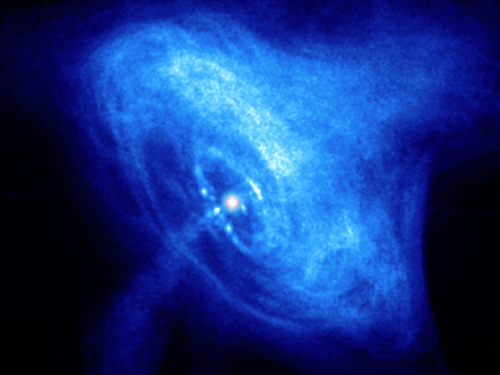 Image from an MIT high school course: Crab Nebula X-ray pulsar, image courtesy of NASA/CXC/SAO/F. Seward et al.