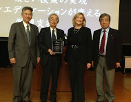 L-R: Professor Kakei, Dean of Open Education at Waseda University; Professor Muraoka, School of Engineering and Science at Waseda University; Kim Jones, Curriki CEO; Hasegawa-san